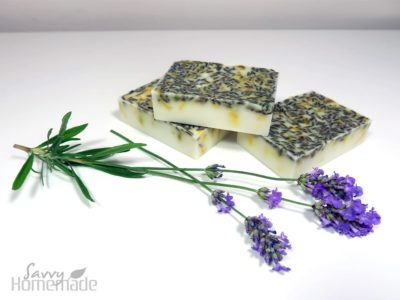 shea butter mp soap with lavender and sandalwood